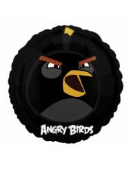 Zwarte aluminium Angry Birds™ ballon 45 cm