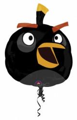 Enorme zwarte aluminium Angry Birds™ ballon