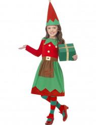 Verkleedpak Elf voor meisjes Kerst