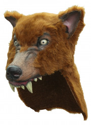 Realistisch weerwolven masker met vacht voor volwassenen