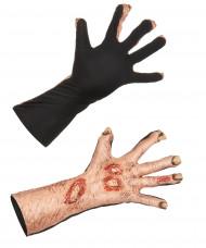 Zombie wonden handschoenen voor volwassenen