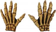 Gele skelet handschoenen voor volwassenen