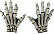 Witte skelet handen voor volwassenen Halloween accessoires