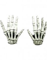 Korte Skelet handschoenen voor volwassenen Halloween