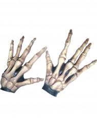 Korte skeletten handschoenen voor volwassenen
