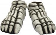 Witte voeten skelet voor volwassenen Halloween accessoire