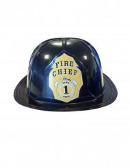 Zwarte brandweer helm