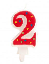 Verjaardagskaars cijfer 2