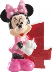 Minnie™ kaarsje cijfer 4