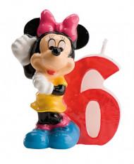 Minnie™ kaarsje cijfer 6