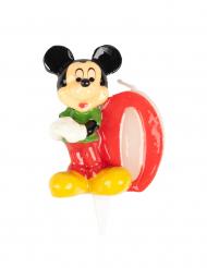 Verjaardagskaars van Mickey™ cijfer 0