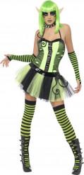 Groen elfje kostuum voor dames