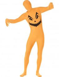 Verkleedkostuum voor volwassenen tweede huid pompoen Halloween kleding