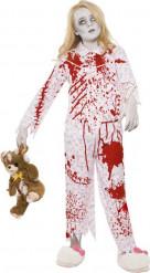 Zombie Halloween pyjama kostuum voor meisjes