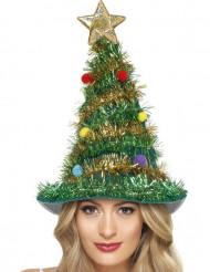 Versierde Kerstboom hoed voor volwassenen