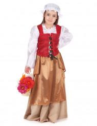 Middeleeuwse boerin kostuum voor meisjes