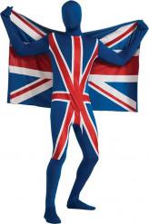 Tweede huid kostuum met Engels vlag motieven