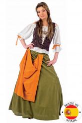 Barman feestkleding voor dames uit de Middeleeuwen