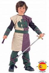 Blauw middeleeuws pak voor jongens