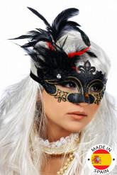 Masker met veren voor volwassenen Feest masker