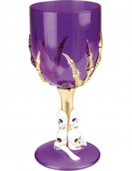 Paarse halloween glas