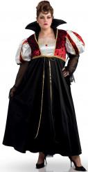 Vampier Halloween kostuum voor dames +Size maat