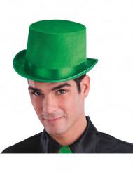 Hoge groene hoed voor volwassen
