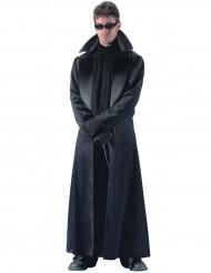 Lange zwarte jas voor heren