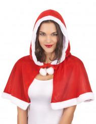 Cape met kap kerstvrouw