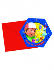 Set Manny Handy™ uitnodigingen