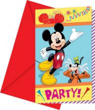 Set Mickey™ carnaval uitnodigingen
