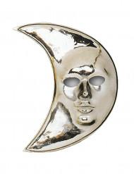 Zilverkleurig maan masker voor volwassenen