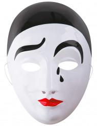Pierrot masker voor volwassenen