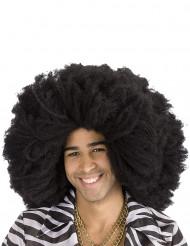 Zwarte afro pruik voor volwassenen
