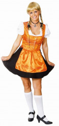 Oranje dirndl jurk voor vrouwen