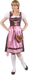 Traditioneel roze Beiers kostuum voor vrouwen
