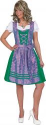 Traditionele blauw en paars Tiroler jurkje voor dames
