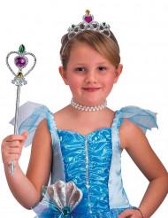 Zilverkleurige prinsessen accessoires voor meisjes