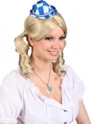 Kleine blauwe en witte hoed
