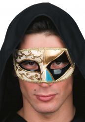 Zwarte Venetiaans masker voor vowassen
