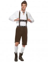 Mr Tirol bruine lederhosen voor heren