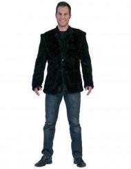 Zwart pluche jasje voor volwassenen