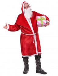 Kerstman pak met riem en baard voor volwassenen