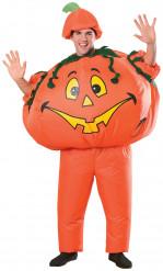 Opblaasbare Halloween pompoenkostuum voor volwassen