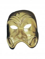 Goudkleurig komedie masker voor volwassenen