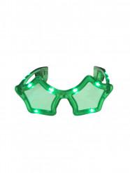 Groene lichtgevende ster bril voor volwassenen
