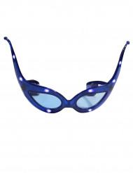 Blauwe lichtgevende vlinder bril volwassenen