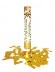 Goudkleurig confetti kanon