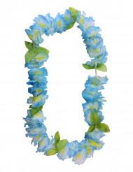 Blauwe hawaiaanse bloemen ketting