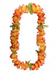 Oranje hawaiaanse bloemen krans